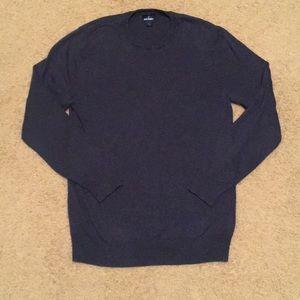 Men's EUC crewneck sweater. Heathered blue. Med.